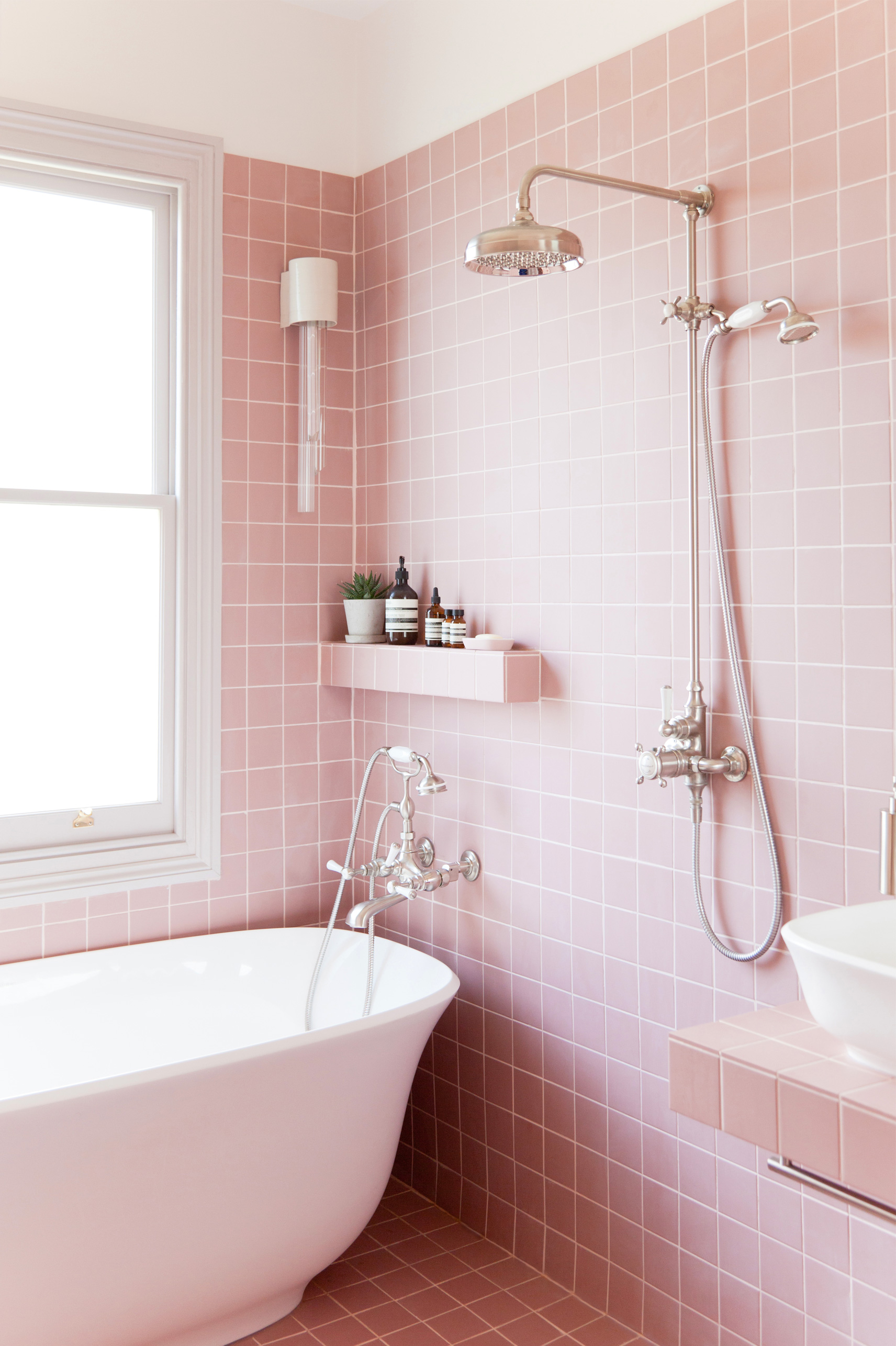 20 Pink Bathrooms That Are Positively Swoon Worthy Hunker