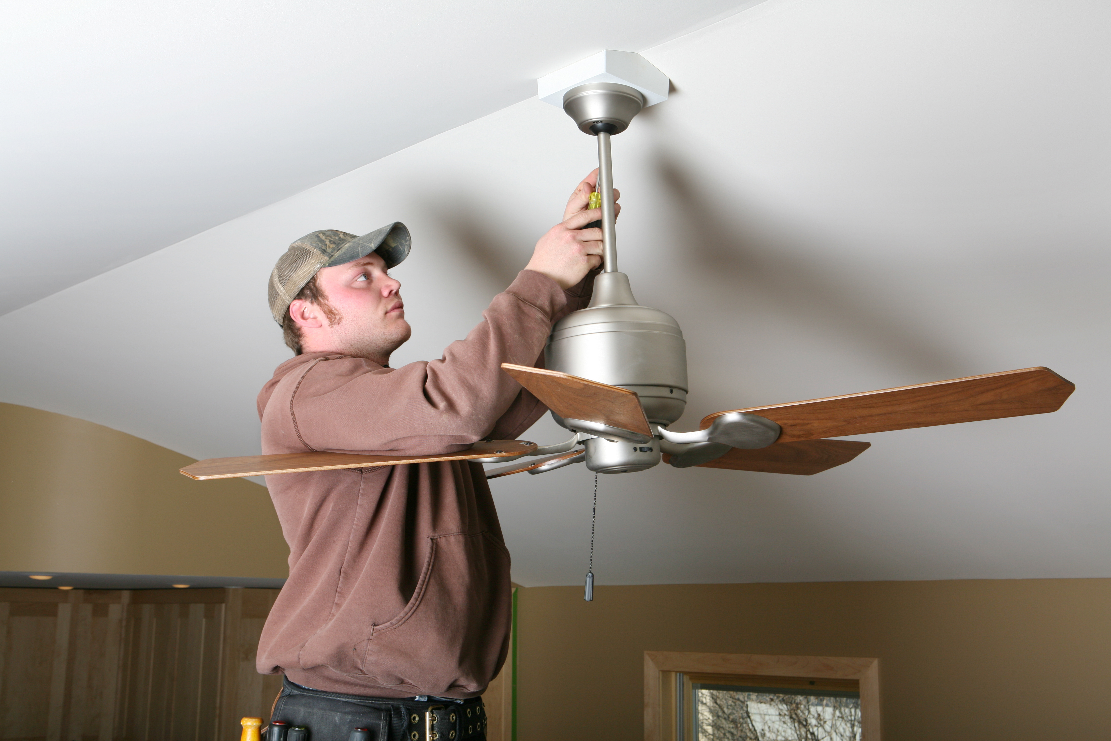 How To Install A Ceiling Fan In A Location Without Existing Power Hunker