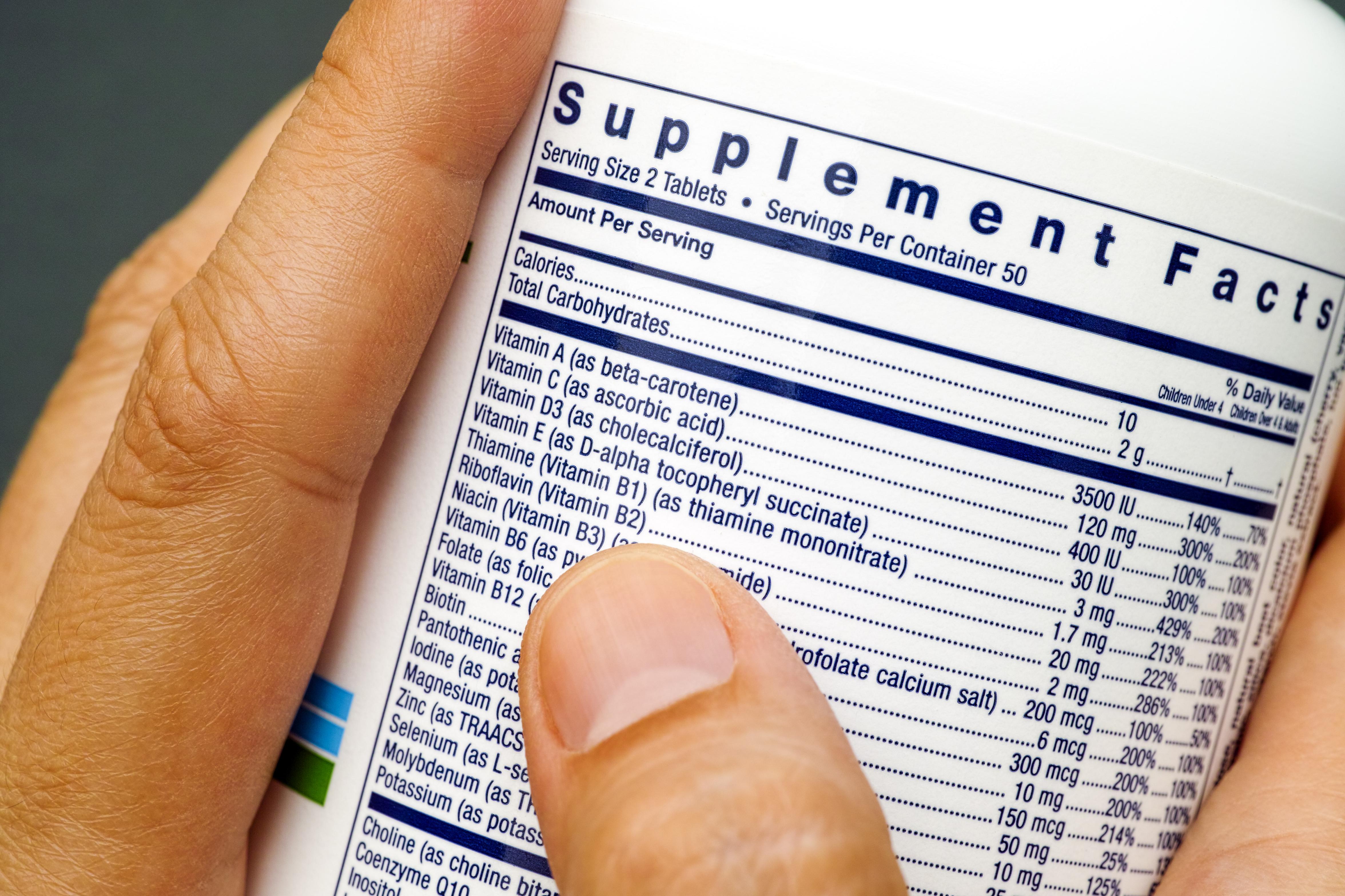 Equate Multivitamin Ingredients