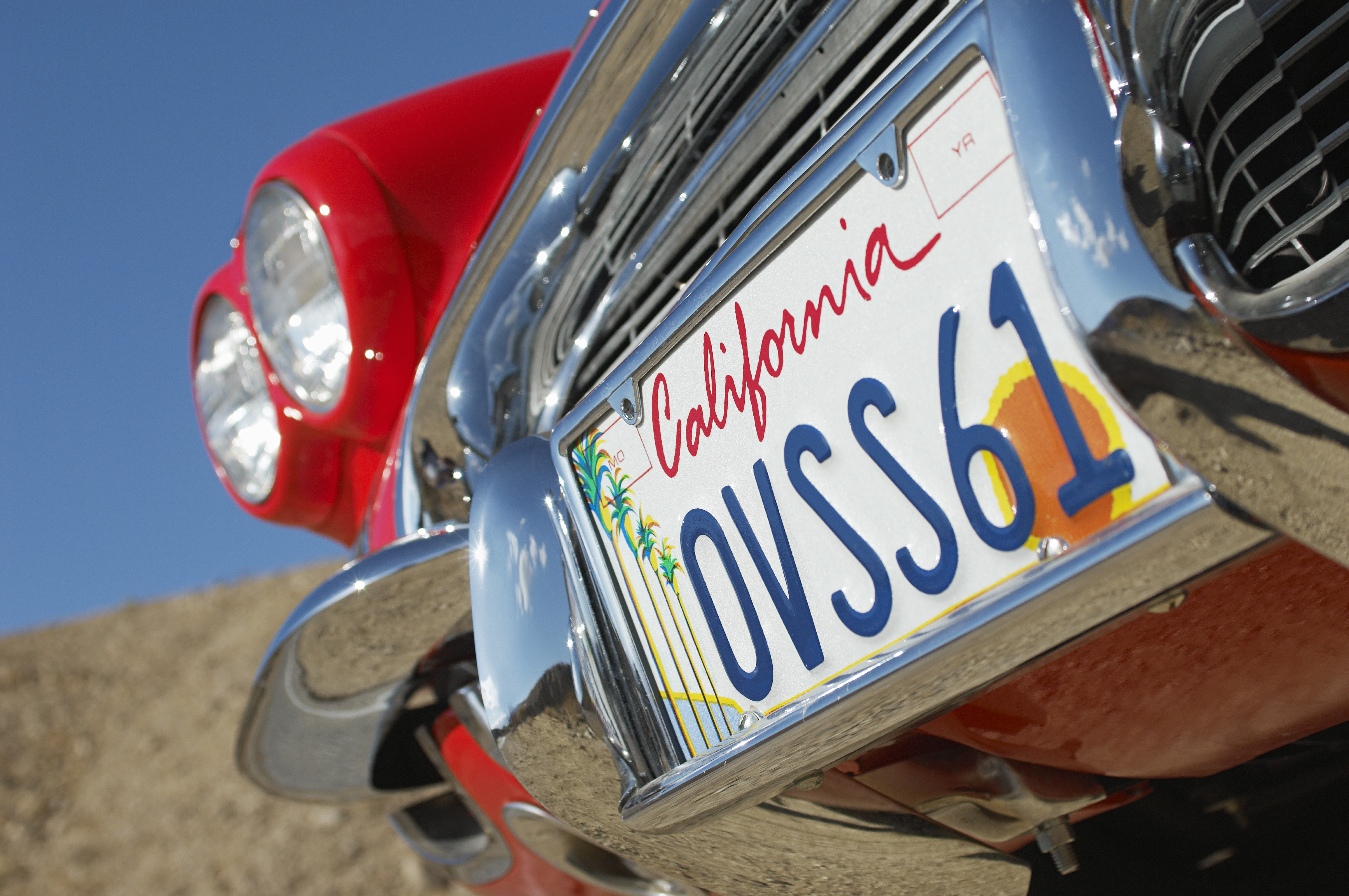 California License Plate Paint Color Law