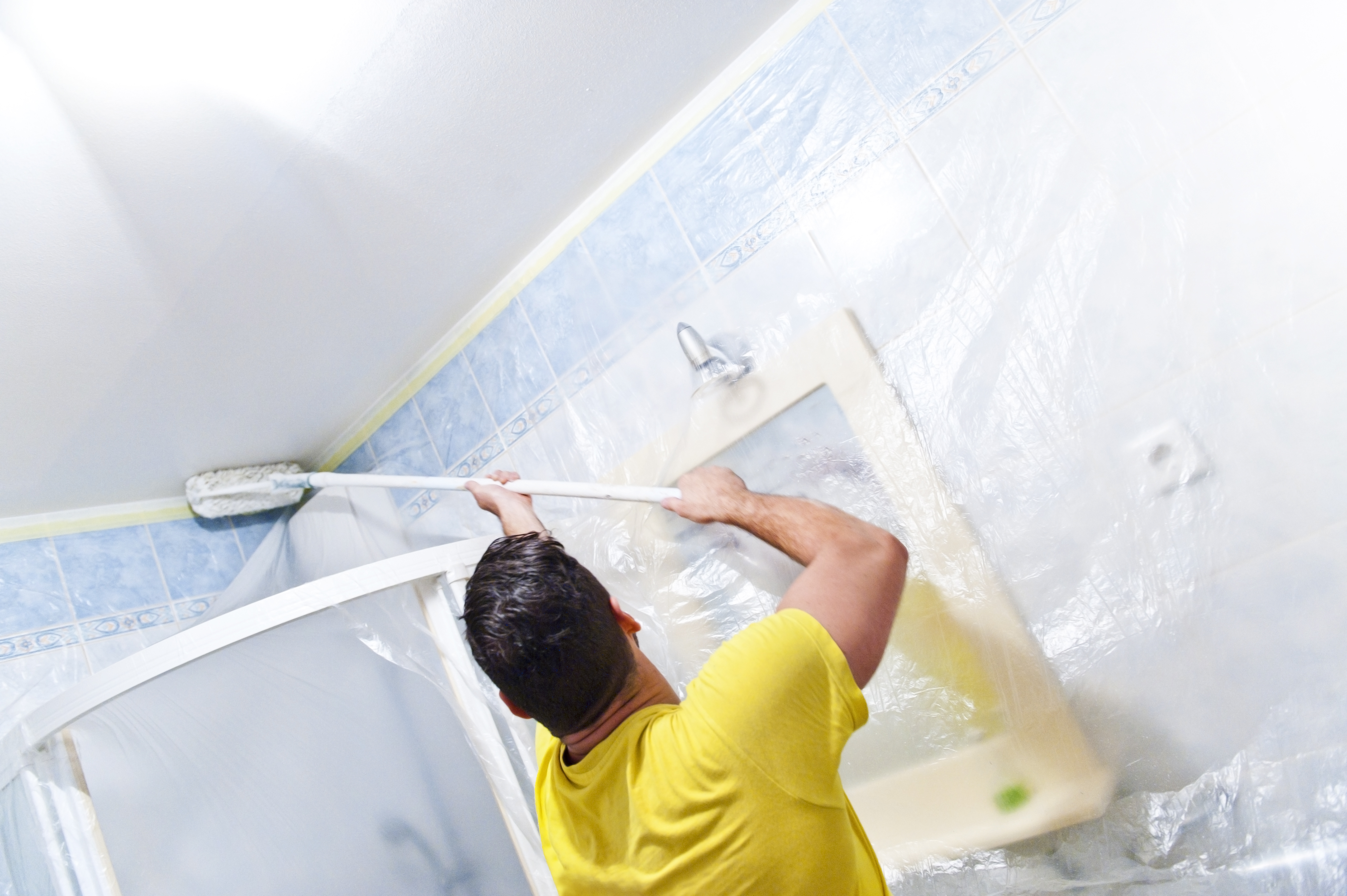 How To Fix Peeling Paint On The Bathroom Wall Ceiling