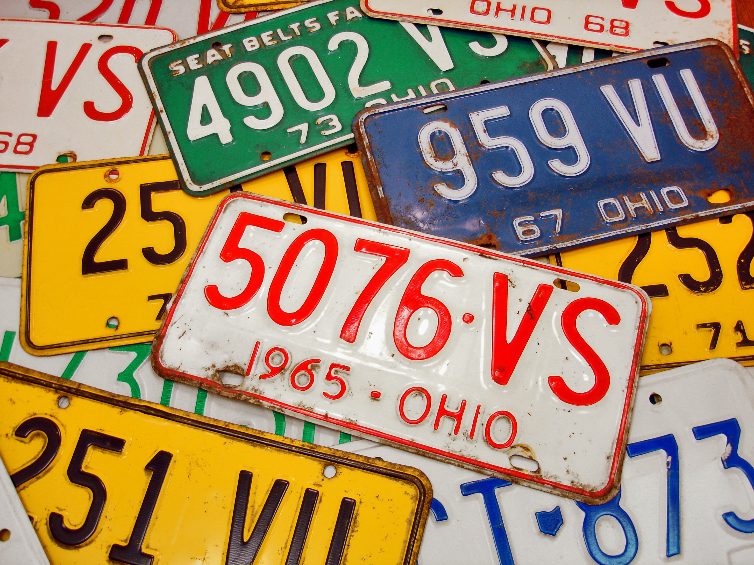 How to Destroy Old License Plates