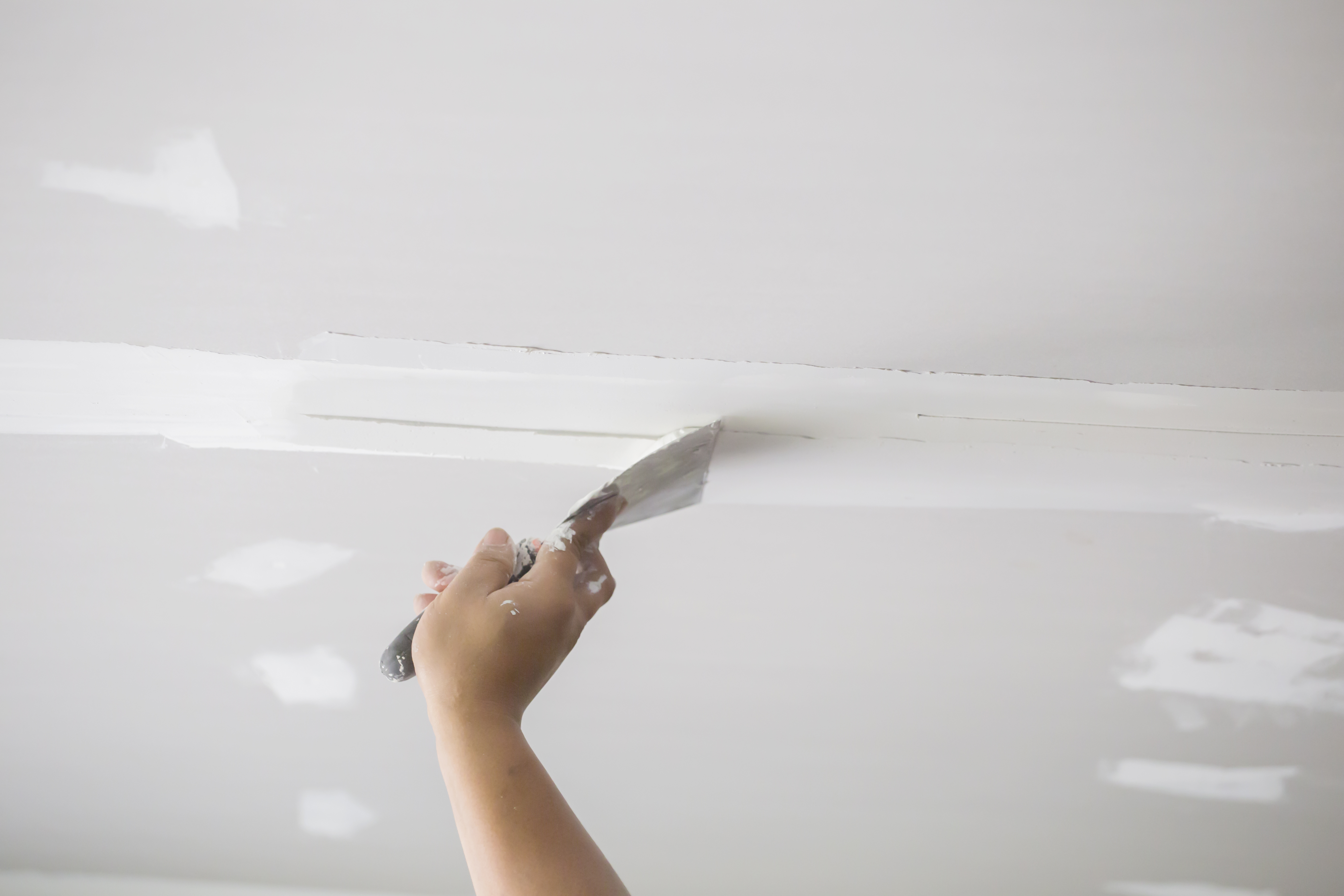 how to fix drywall patch marks showing through paint | home