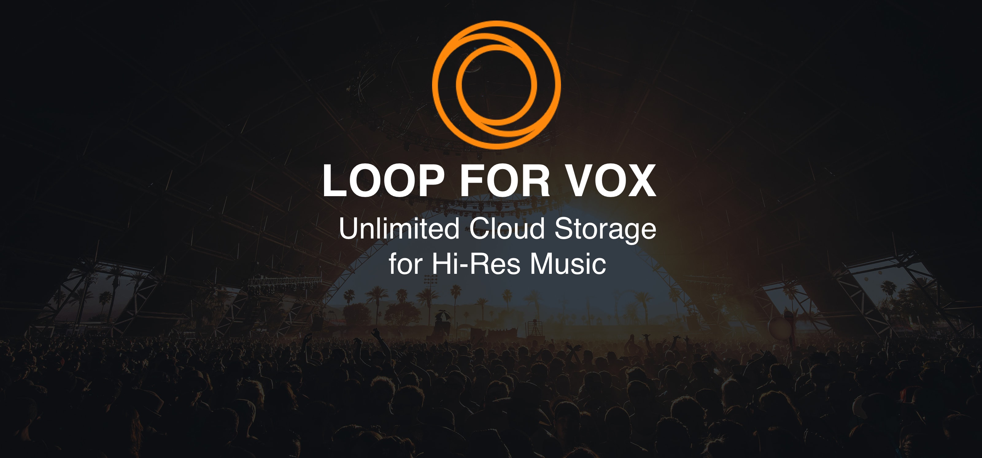 LOOP Music Cloud Storage logo on a darken background. LOOP excludes the reasoning behind the FLAC vs. ALAC  rivalry