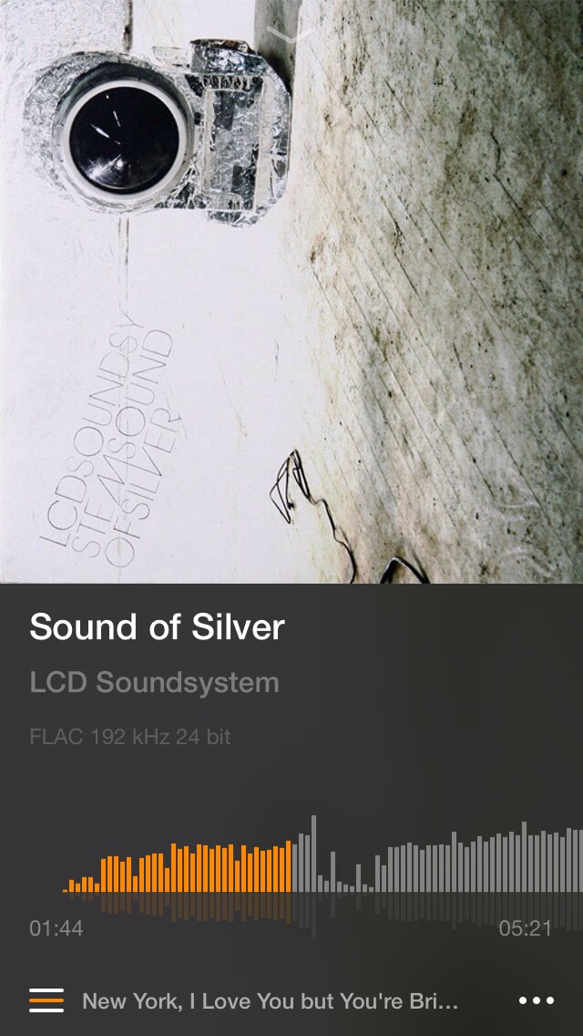 VOX iOS FLAC playing Sound of Silver by LCD Soundsystem