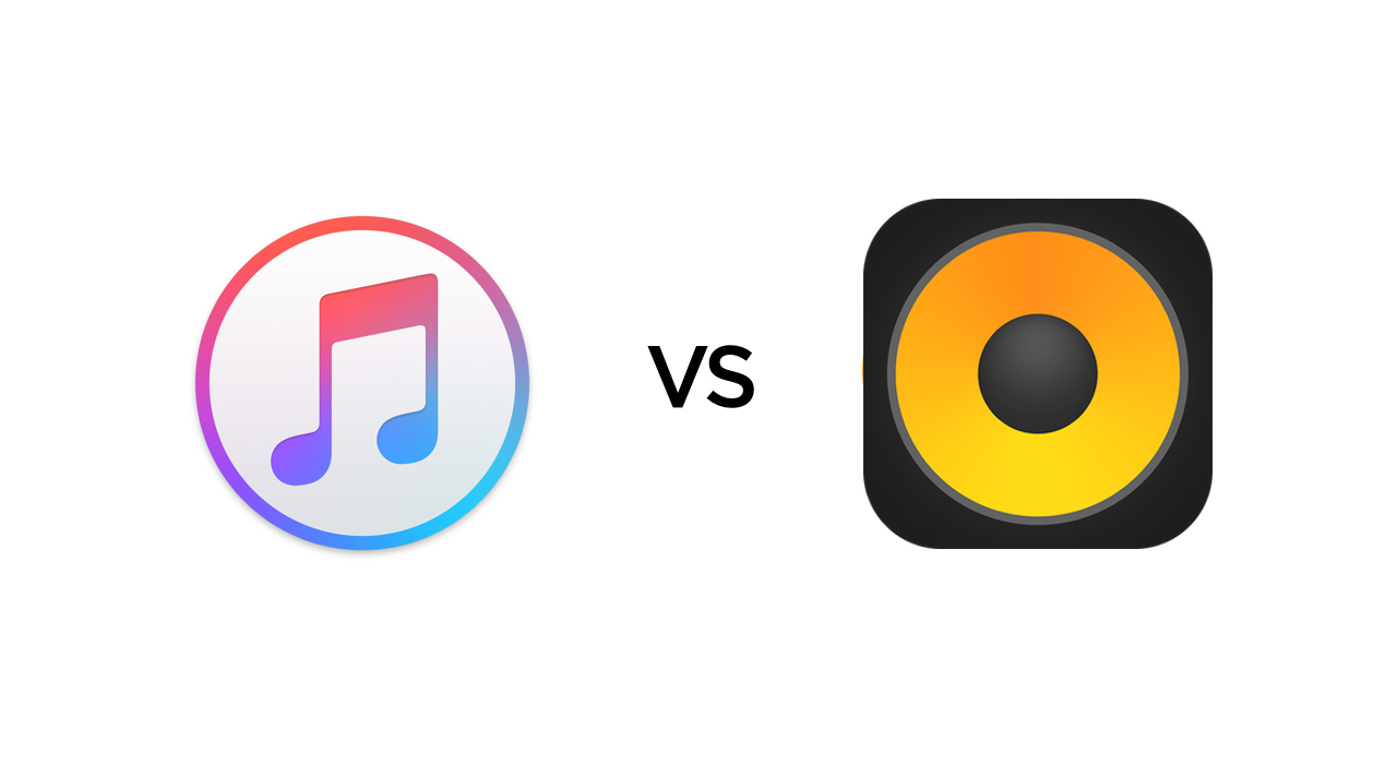 iTunes vs. VOX - brands' logos