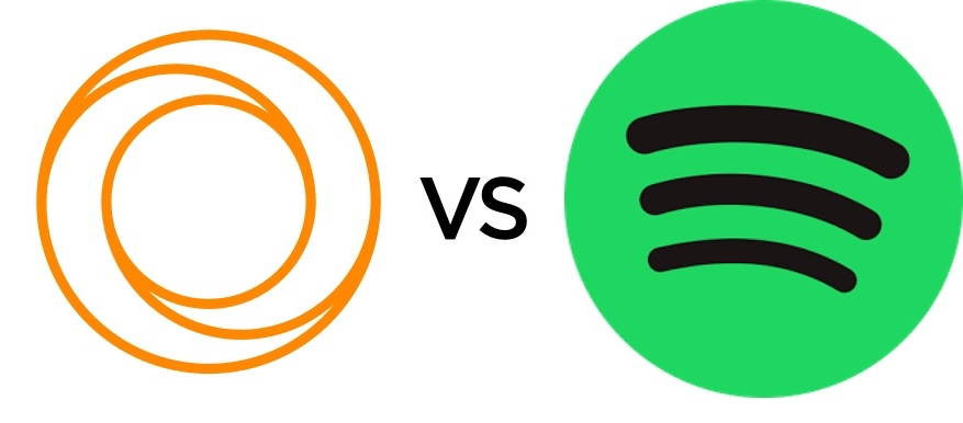 Spotify Web Player vs LOOP logos