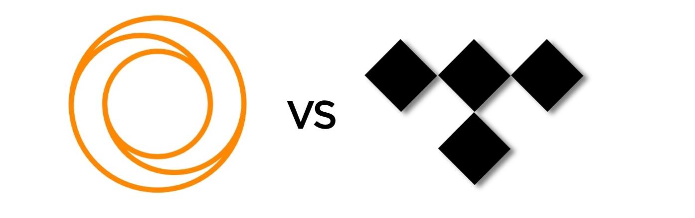 TIDAL vs. LOOP: TIDAL's and LOOP's logos