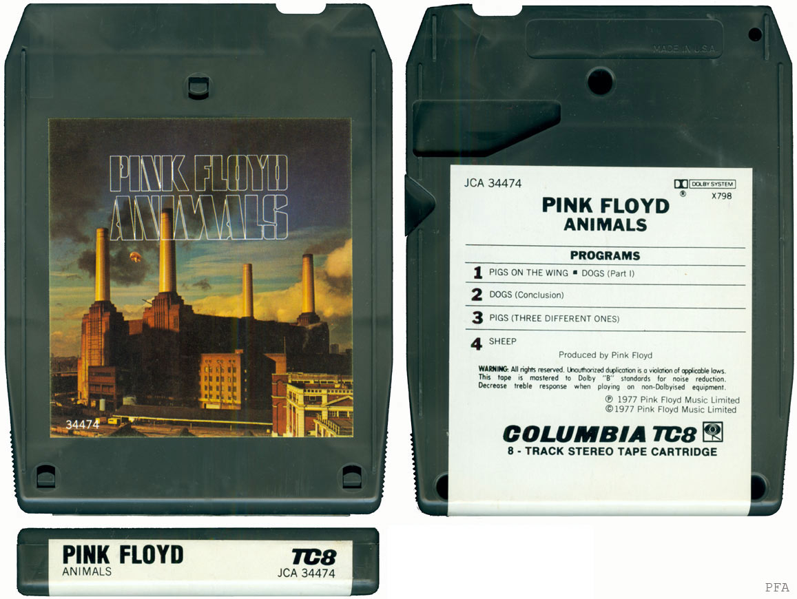 Pink Floyd – Animals. An 8-track tape