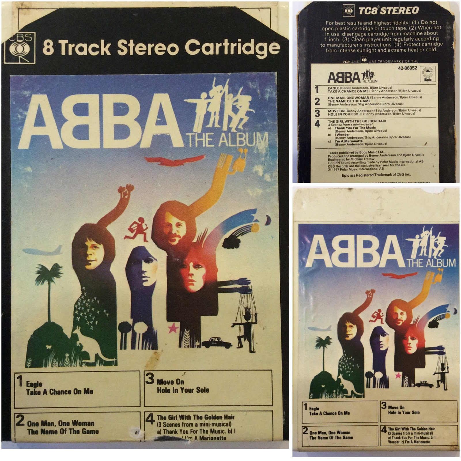 ABBA – The Album. An 8-track tape