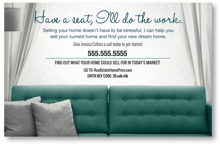 Home Estimate Couch Postcard