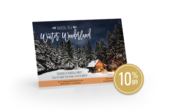 Winter Wonderland Seasonal Postcards