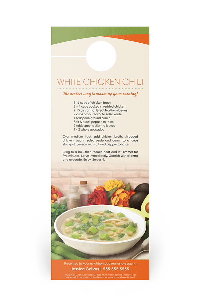 Corefact Door Hanger - White Chicken Chili
