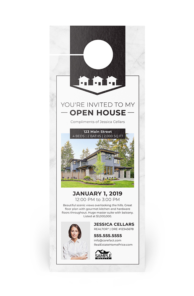 Corefact Door Hanger - Open House 02