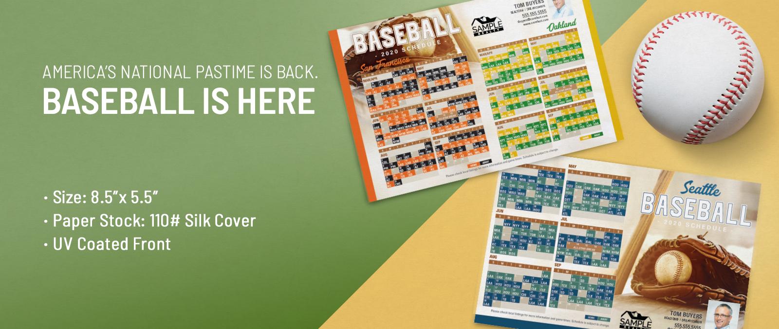 Baseball Schedule Postcards
