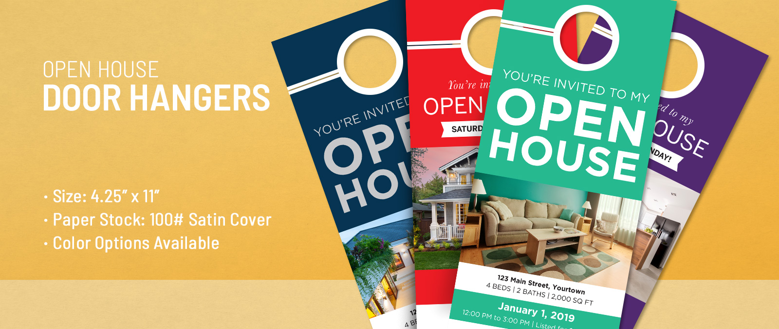 Open House Door Hangers