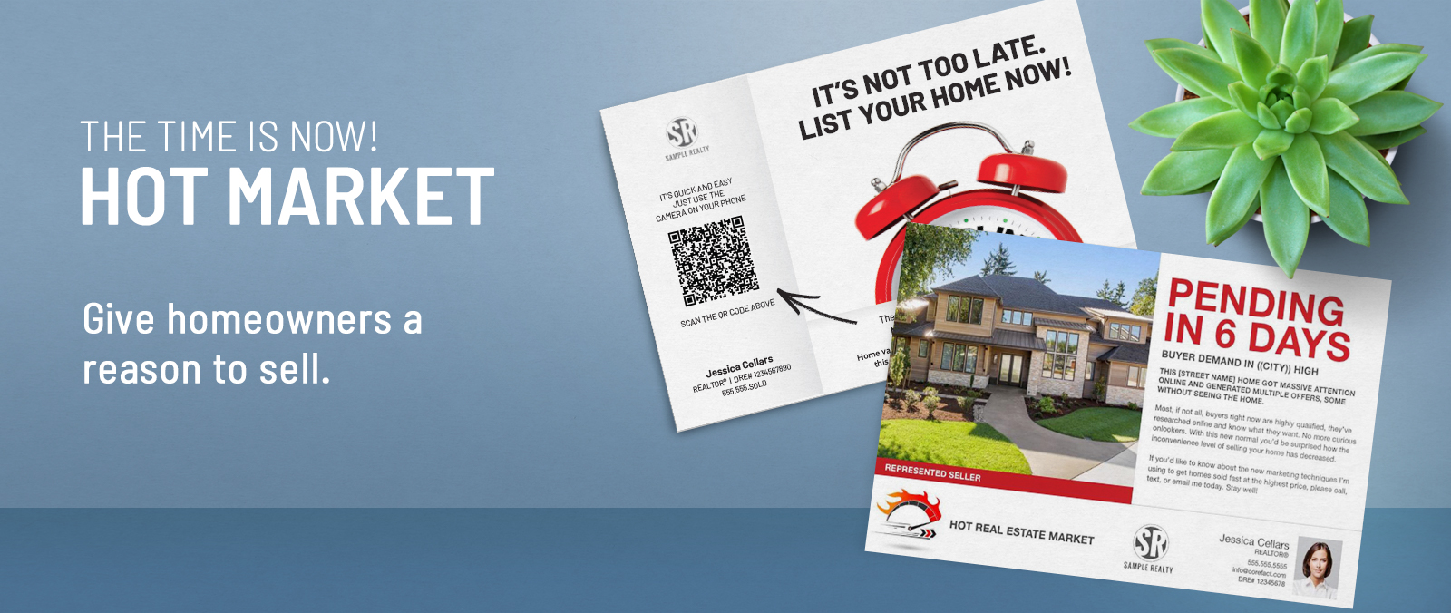 Real Estate Hot Market Postcards