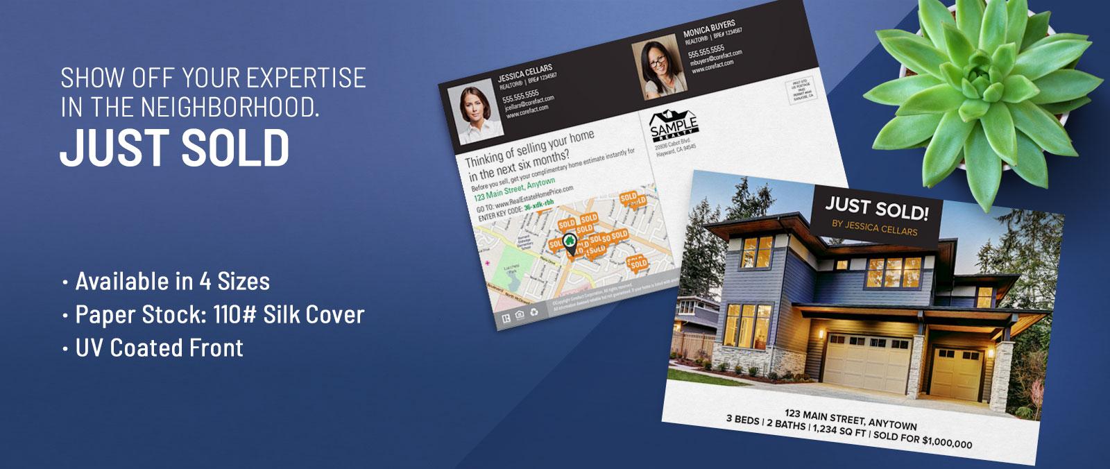 Real Estate Just Sold Postcards