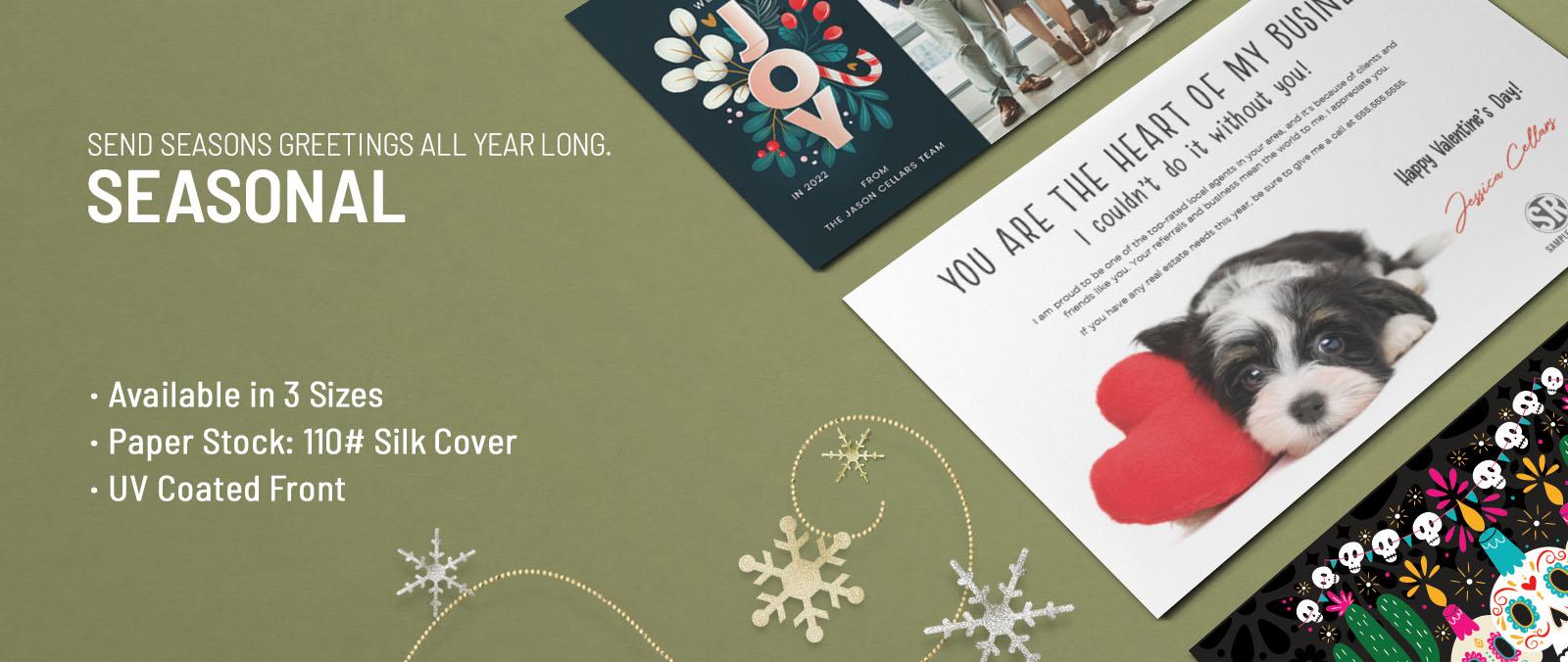 Real Estate Seasonal Postcards