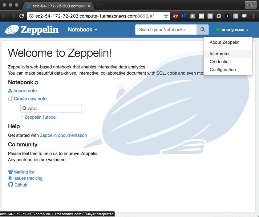 Amazon EMR Tutorial: Apache Zeppelin & HBase Interpreters