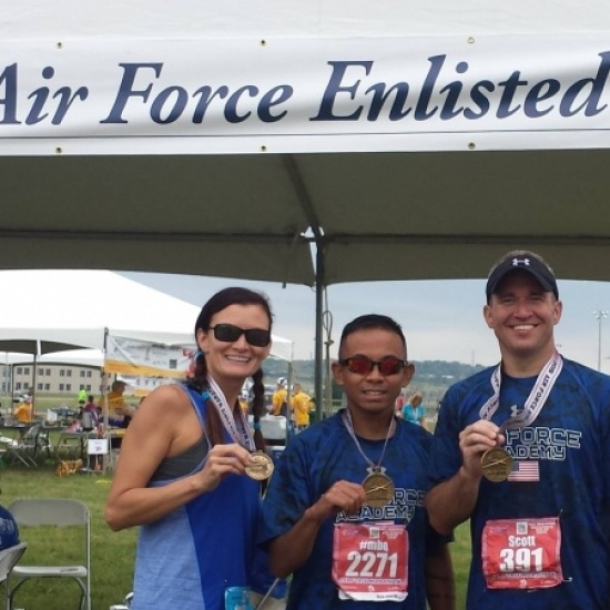 Team AFEV at the 2017 Air Force Marathon Photo