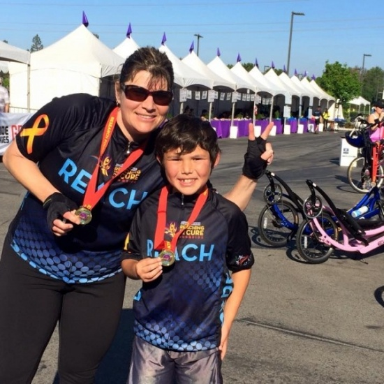 Pedaling to Cure Pediatric Cancer for PCRF Photo