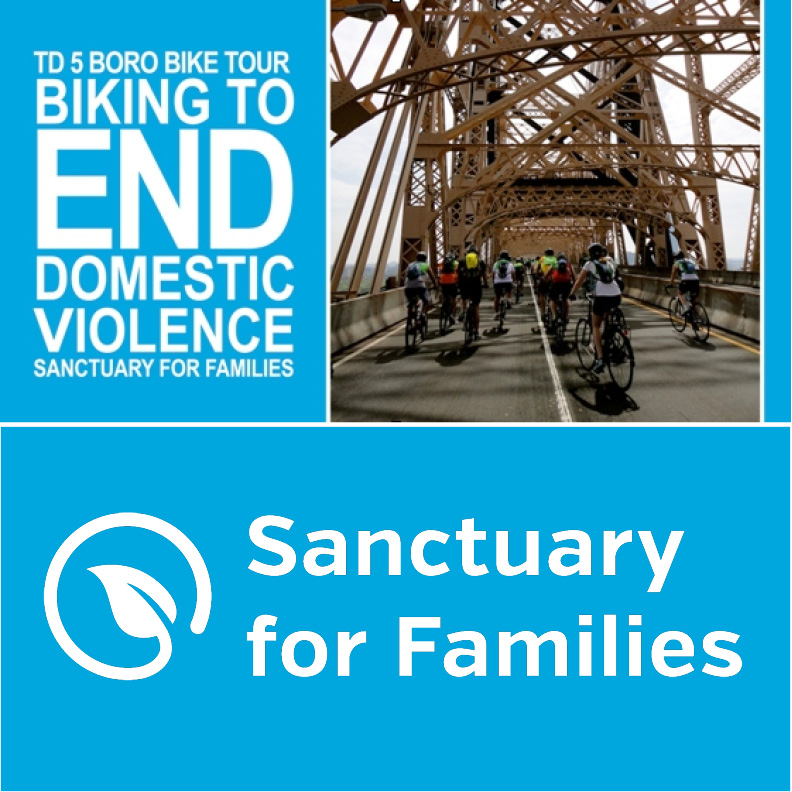Sanctuary for Families - 2017 TD Five Boro Bike Tour Charity Team Photo