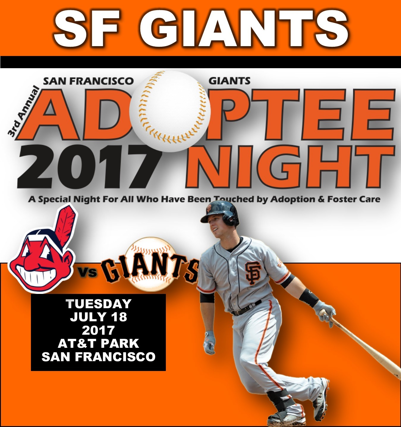 3RD ANNUAL SF GIANTS ADOPTEE NIGHT 2017 Photo