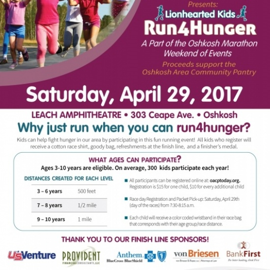 Lionhearted Kids Run4Hunger 2017 Photo