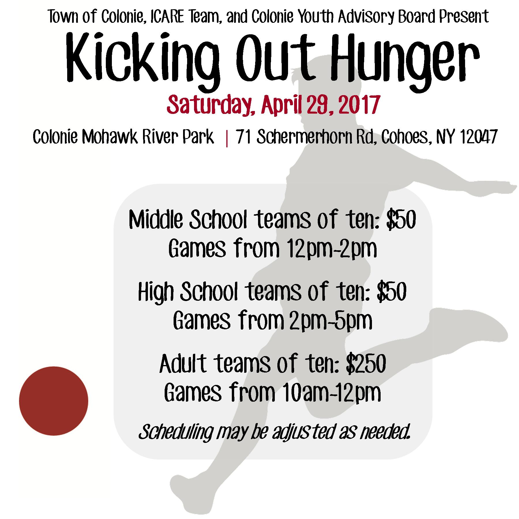 Kicking Out Hunger Photo