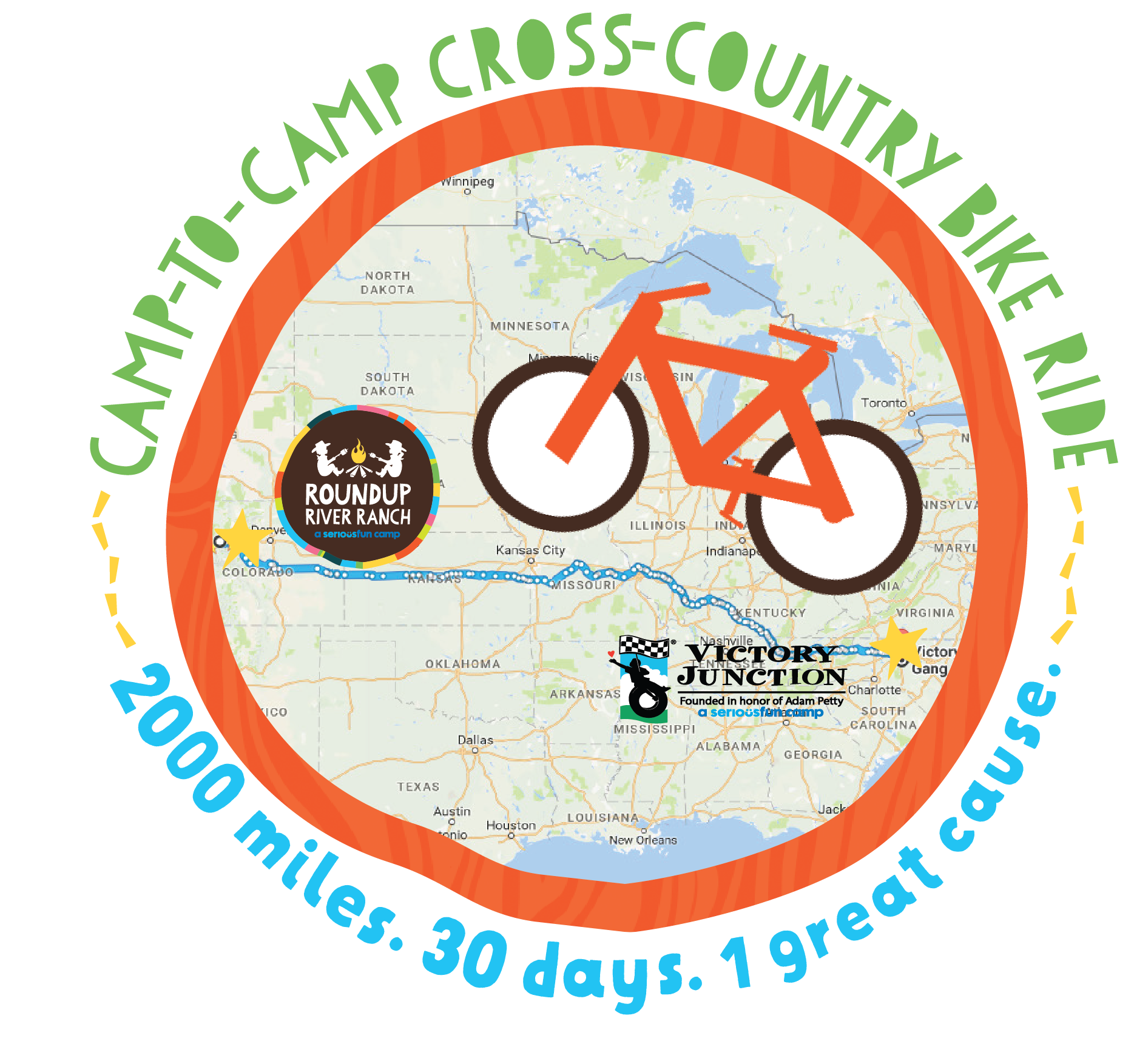 Camp-to-Camp Cross Country Bike Ride with Stuart Frith Photo