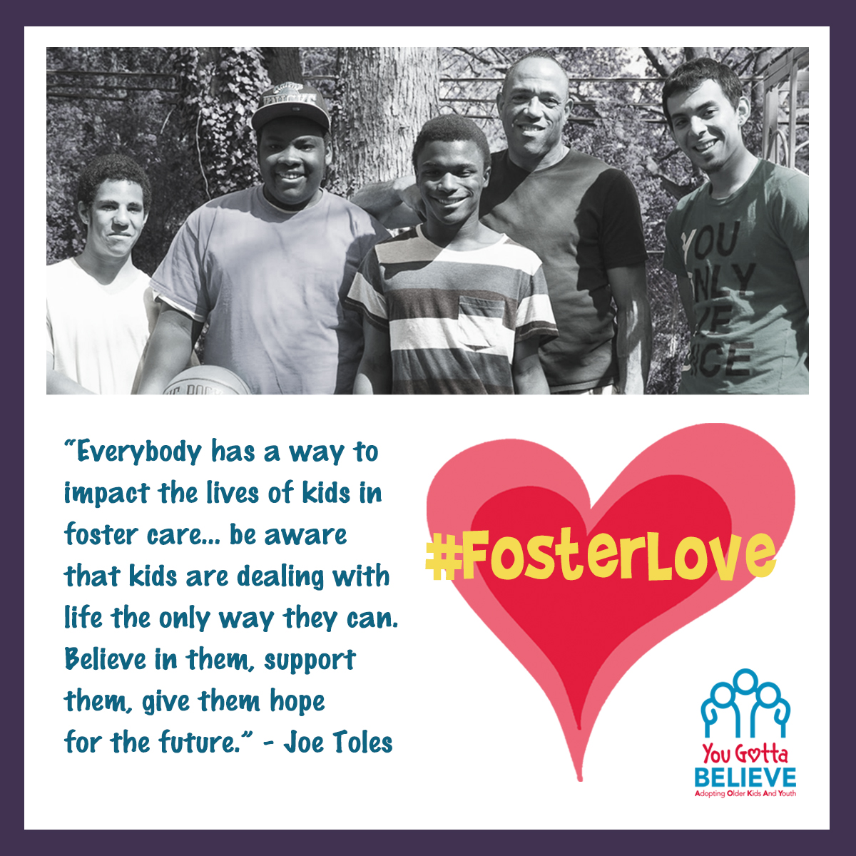 #FosterLove with YGB for National Foster Care Awareness Month Photo