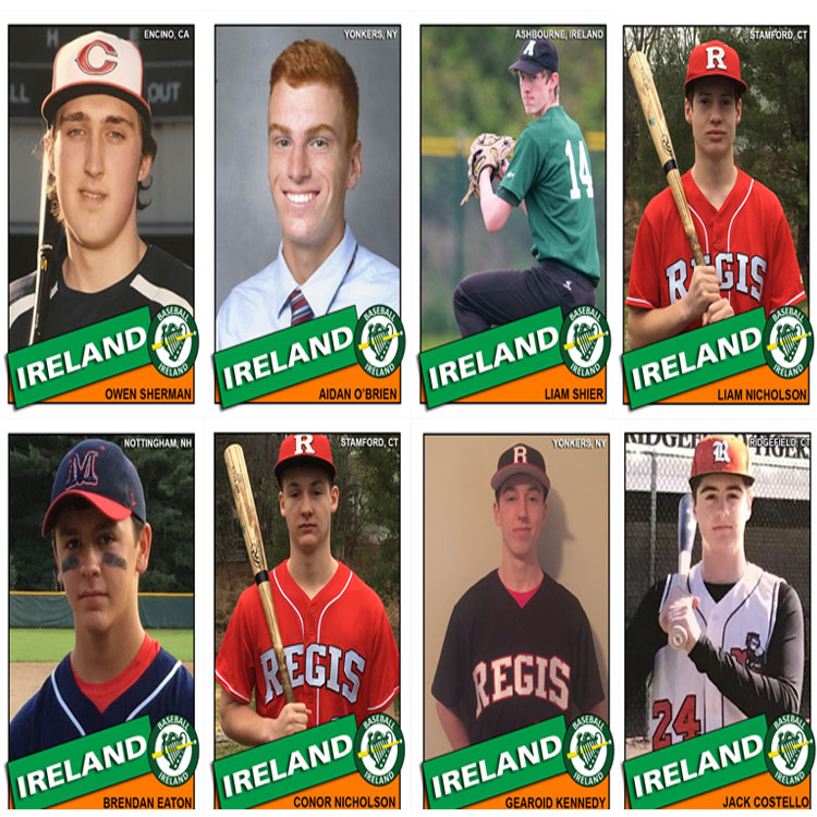 2017 Irish Junior National Baseball Team 18U Photo