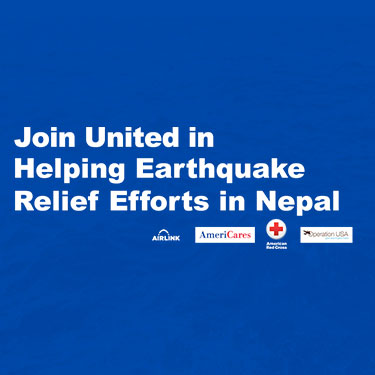 United Airlines for Nepal Relief Photo