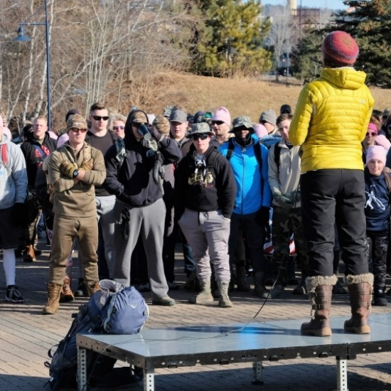 Nearly Naked Ruck March - Duluth Photo