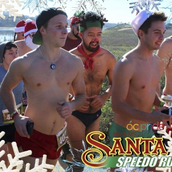2017 Mr & Ms Santa Speedo Run Photo