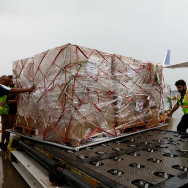United Airlines Hurricane Harvey Relief Efforts Photo