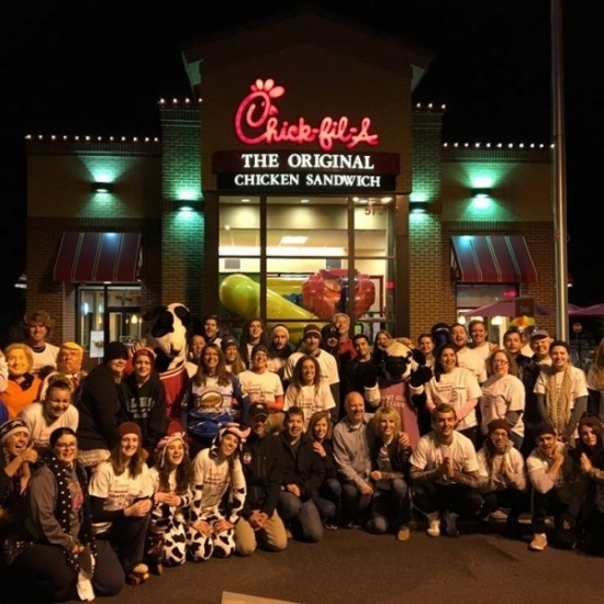 Garden of the Gods Chick-fil-A Skate For Chicken Photo