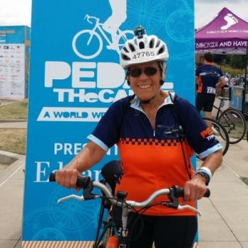 Anne Hogan - Team Pedal the Cause, a 2017 GO! for a Cause charity in GO! St. Louis Image