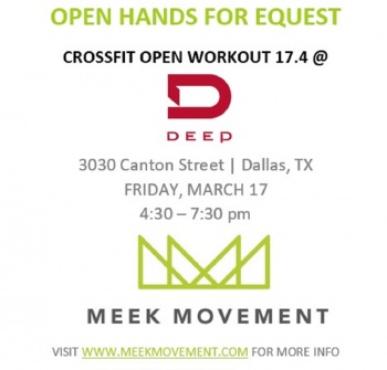 17.4 Open Hands for Equest- Sponsored by Meek Movement & Crossfit Deep