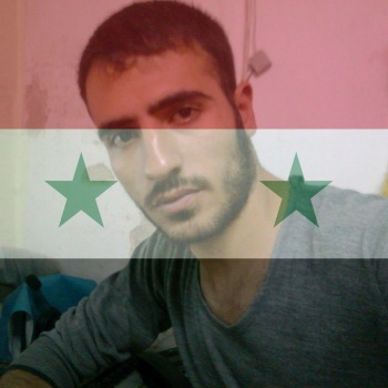 Damaged in the war in Syria