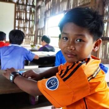 Visit to Angkor for the children on village in rural Cambodia