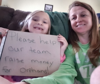 Amanda and Myah's team for World Orphan Run Image