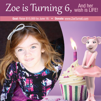 Zoe Turns 6! Please give the gift of life!