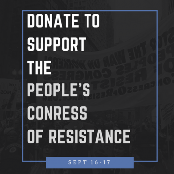 Launch the People's Congress of Resistance! Sept. 16-17, D.C.