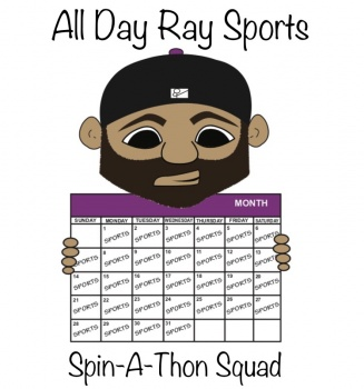 All Day Ray Sports Spin-A-Thon Squad