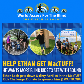 Help Ethan Raise Funds To Help Blind Kids See With Sound