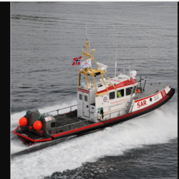 Search and rescue boat for refugees in the Mediterranean