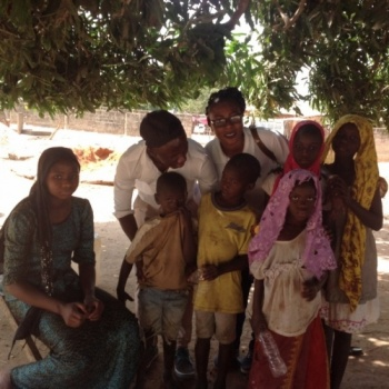 provision of foods and clothes for kids in madinaba village in the Gambia