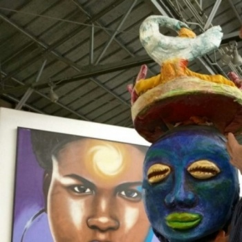 Watts Youth Artists Team for Day of the Ancestors: Festival of Masks
